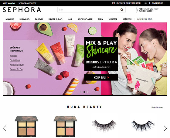 Sephoras webbshop